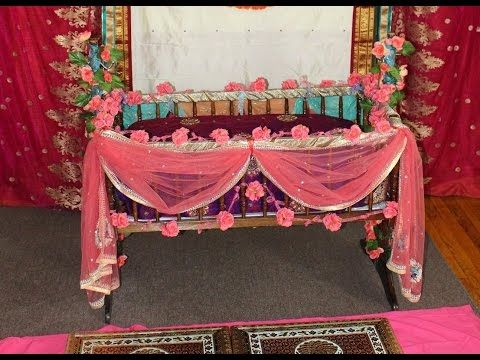 Diy easy cute cradle decoration naming ceremony for Baby palna decoration