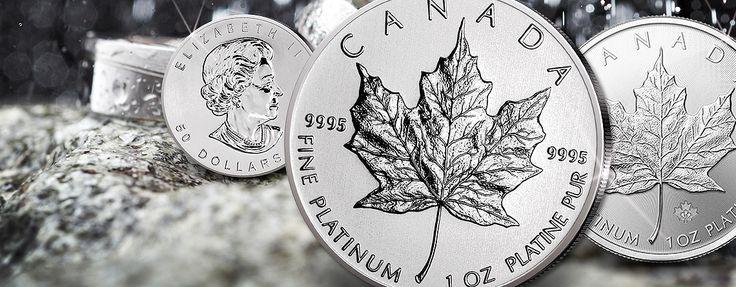 Platin Maple Leaf Münzen der Royal Canadian Mint