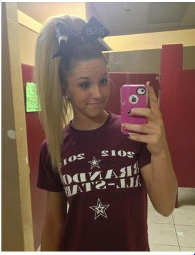 I am going to do this for a football game! #cheerhair #cute  Easy as that! That's how it's done!