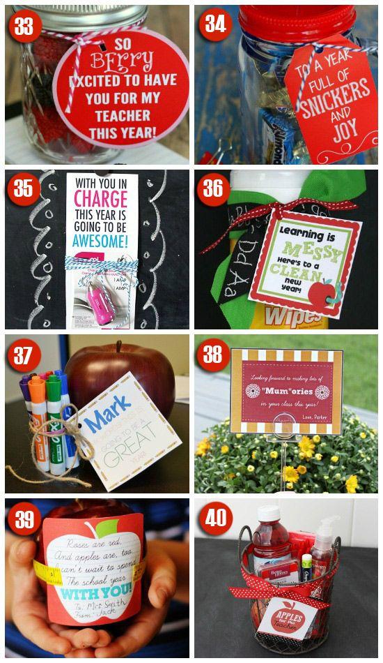 101 Easy and Creative Teacher Gift Ideas