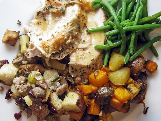 Herb Roasted Turkey with Gravy - now I'm craving turkey so it's a goo...