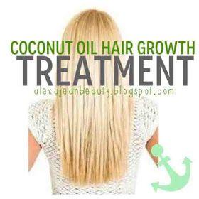 """""""Alexa Jean Beauty: Coconut Oil Hair Growth Treatment"""""""