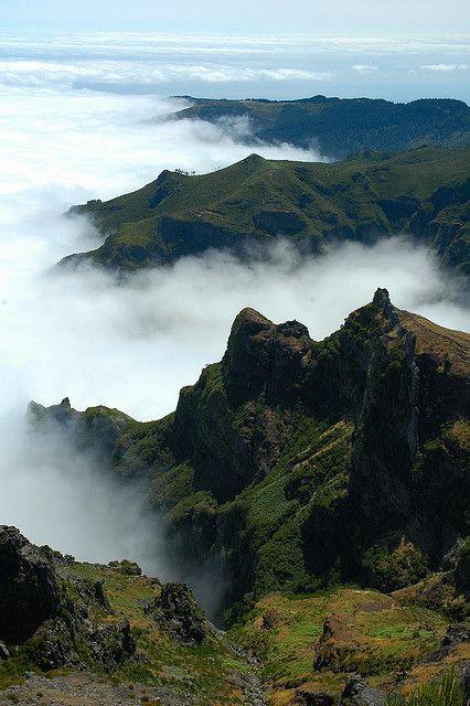Madeira clouds and mountains. #madeira #secretmadeira