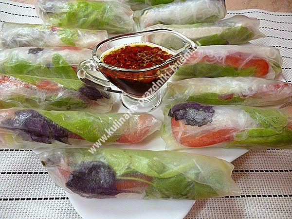Спринг-роллы или рисовые роллы со свежими овощами, зеленью, курицей. Как приготовить спринг роллы подробный рецепт с фото