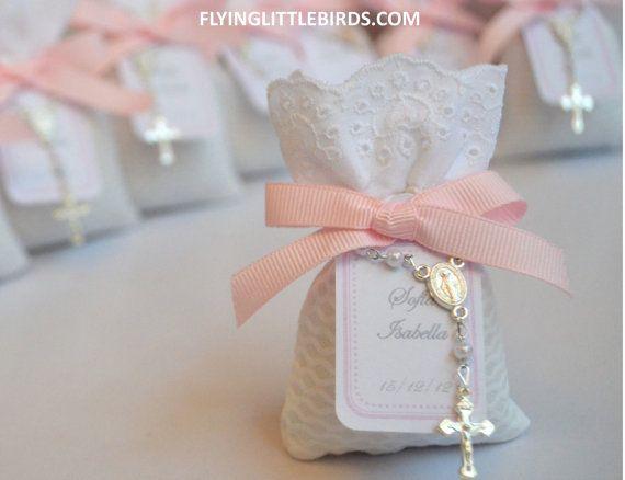 Baby Girl Baptism Favors Christening di FlyingLittleBirds su Etsy