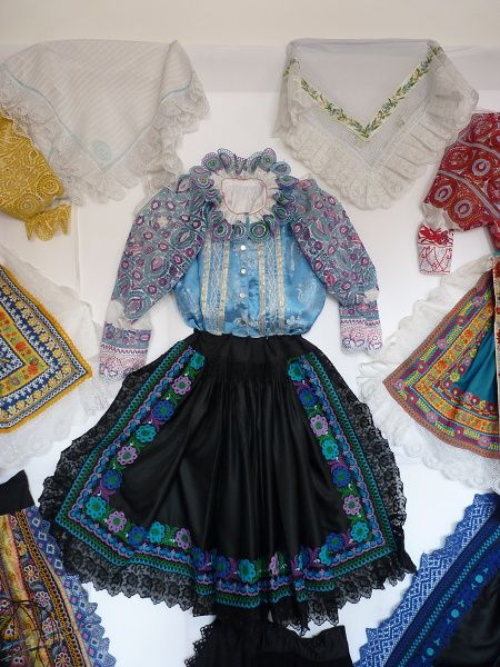 Complete Woman's Slovak Folk Costume from Krakovany / hand embroidery