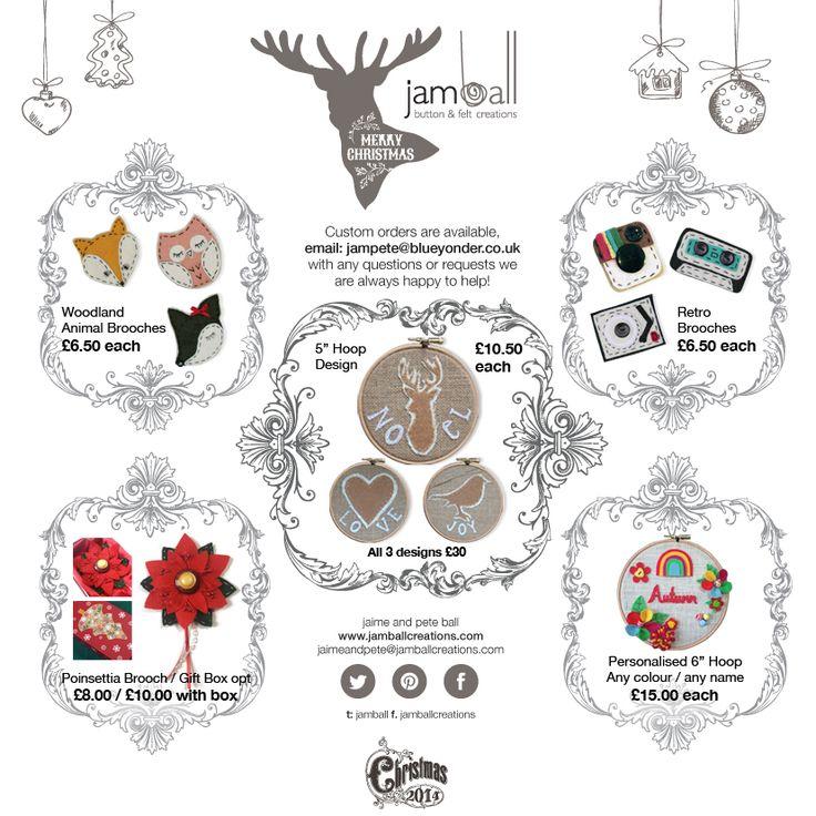 #Christmas #handmade #gift #jamball #felt #buttons