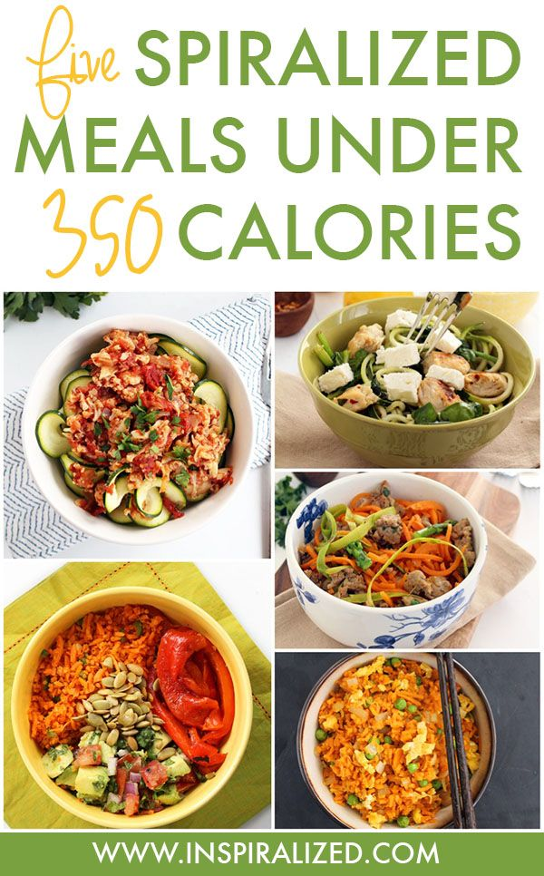 5 Spiralized Meals Under 350 Calories