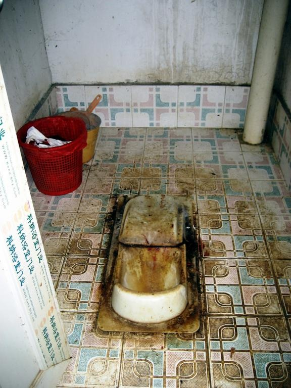 A visit to this public convenience in mainland China's Yunnan Province may test his [Stephen Shen, see http://gbtimes.com/news/men-should-sit-down-urinate-taiwan-politician] philosophy.  (Source: gbtimes)