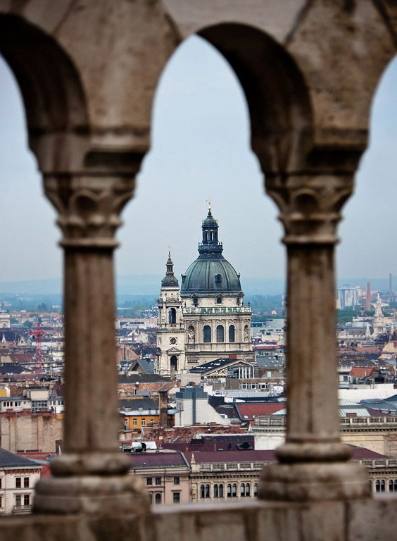 St. Stephen's Basilica as seen from the Fisherman's Bastion #Budapest #Hungary