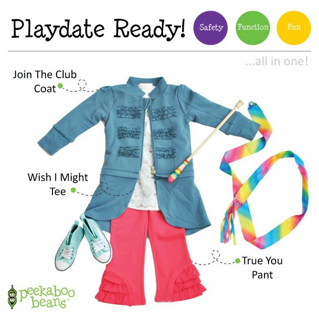Ribbon Dancing Bean | Peekaboo Beans - playwear for kids on the grow! www.peekaboobeans.com | #PBPlayfulPairings
