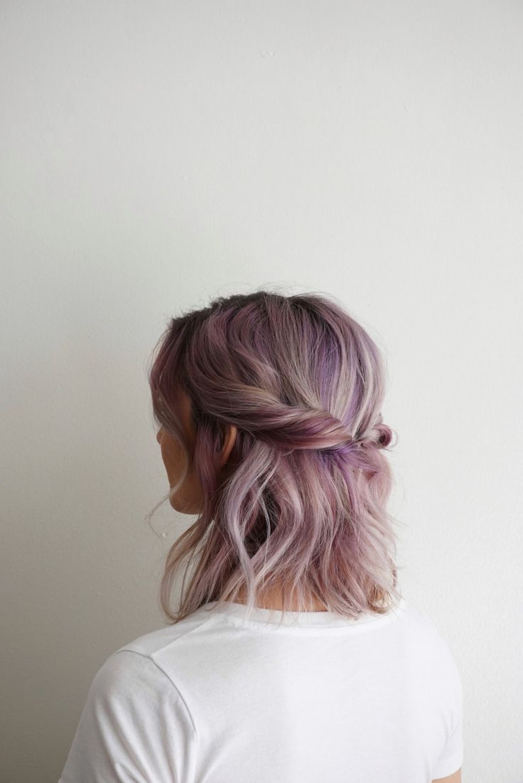 Washed out purple hair colour with a twist.
