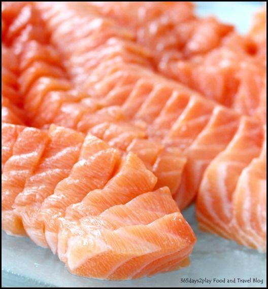 Rise Restaurant Marina Bay Sands - Salmon Sashimi (1)