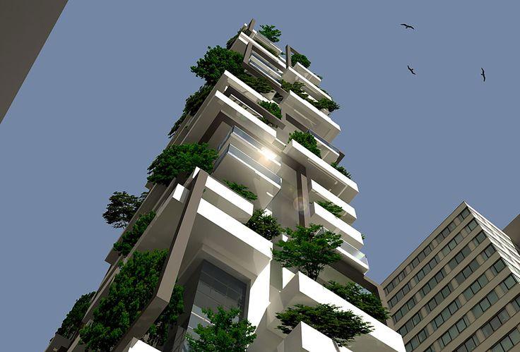 Torre Rizzato, giardino verticale in Aldeota, Fortaleza, Brazil (ReCS Brasil: Antonella Marzi, Giulio Lusvardi ▪ 2014)