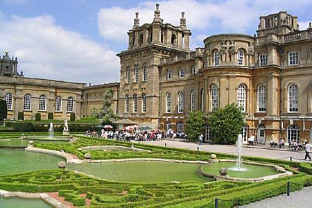 The Blenheim Palace, Oxfordshire, England. To see the Baroque and the English garden