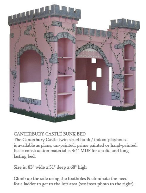 Princess castle playhouse plans woodworking projects plans for Princess bed blueprints