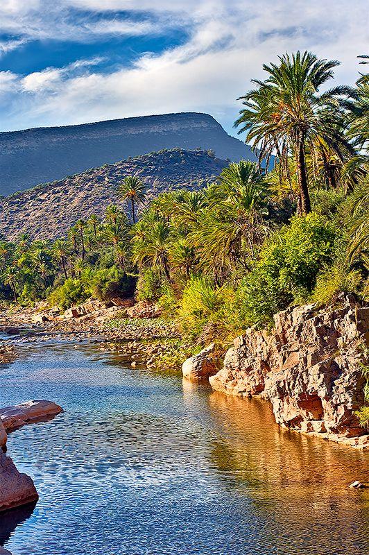 自然豊かなアトラス山脈。