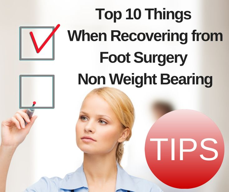 Learn the tips from others for a fast, full and fun recovery on one foot.