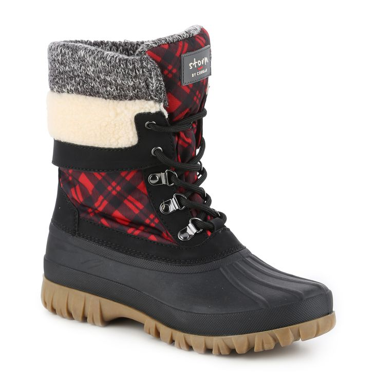 Please put these boots under my tree!  Love the red and black plaid. Creek Duck Boot in color Black-Red. #gordmans