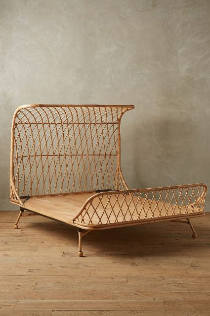 Curved Rattan Bed - anthropologie.com