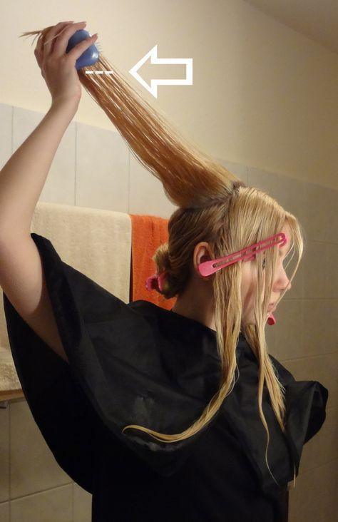 Do it yourself Stufenschnitt für lange Haare 4