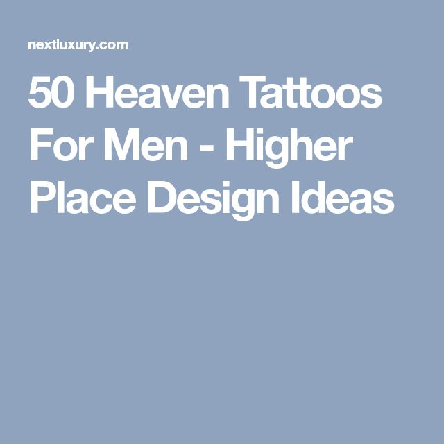 50 Heaven Tattoos For Men - Higher Place Design Ideas