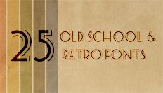 25 Old School and Retro Free #Fonts