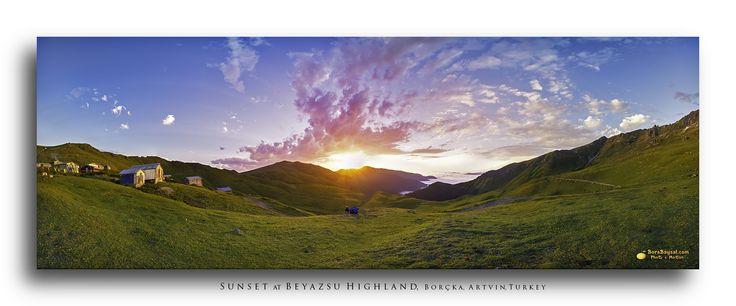 Sunset at Beyazsu Highland, Borcka, Artvin, Turkey by Bora Baysal / 500px
