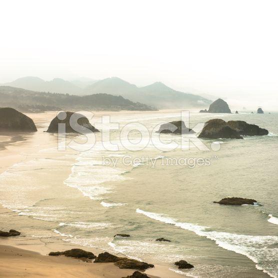Ecola-Staatspark Landschaft an der Küste von Oregon – lizenzfreie Stock-Fotografie