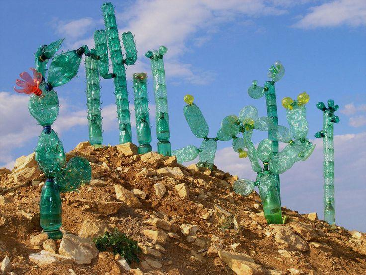"Veronika Richterova ""SCULPTURES MADE FROM REPURPOSED PET PLASTIC BOTTLES"""