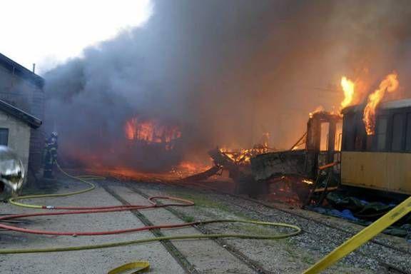 Deux wagons classés « Monument Historique » détruits à Tournon-sur-Rhône -