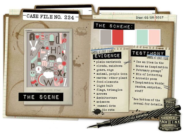 CSI: Color, Stories, Inspiration: Case File No. 224 - Deadline: February 28, 2017