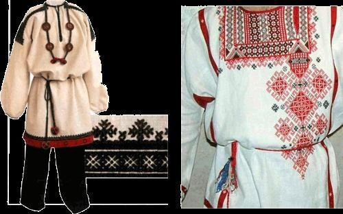 Славянская мужская свадебная рубашка