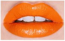 Oranje lippenstift