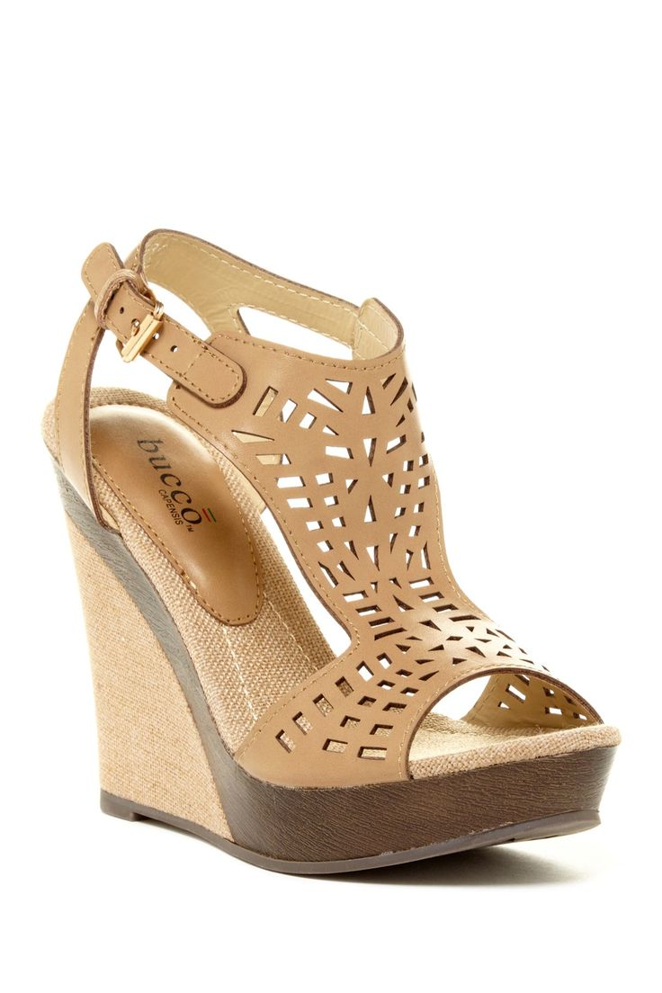 Bucco Bucco Pierce Laser Cut Wedge Sandal | Nordstrom Rack