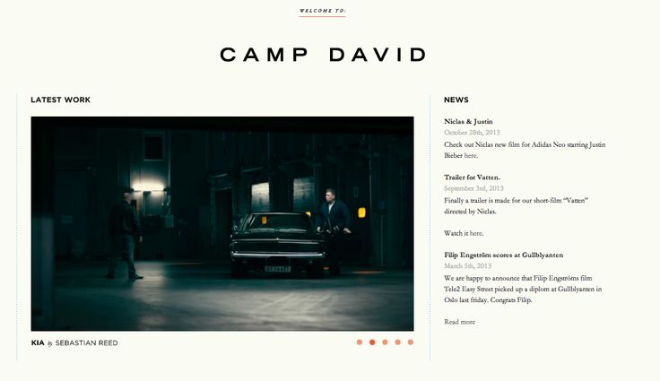 "Camp David Films – the director who did ""Only because we can"""