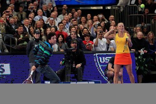 Rory McIllroy and Caroline Wozniacki at Madison Square Garden