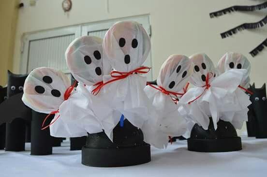 Souvenir cumpleaños #Halloween paletas fantasmas