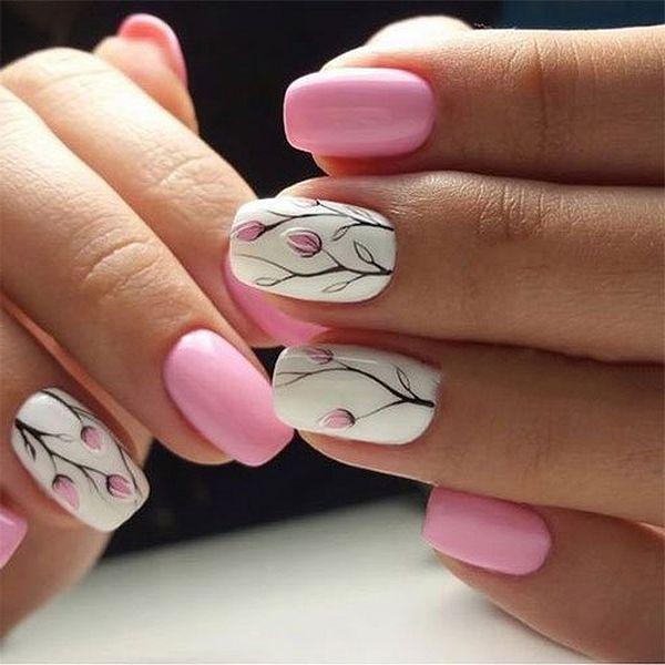 Pink Spring Nail Art