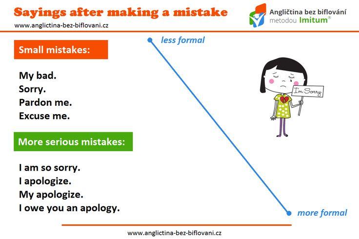 Každý dělá chyby. Víte ale, jak se za ně omluvit? Myslíte, že jsou chyby nezbytné nebo důležité?! ❌ 😩 🆘 #mistakes #sorry