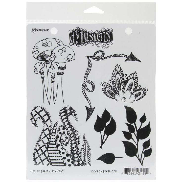 "Dyan Reaveley's Dylusions Cling Stamp Collections 8.5""X7""-Doodle Parts #Ranger"