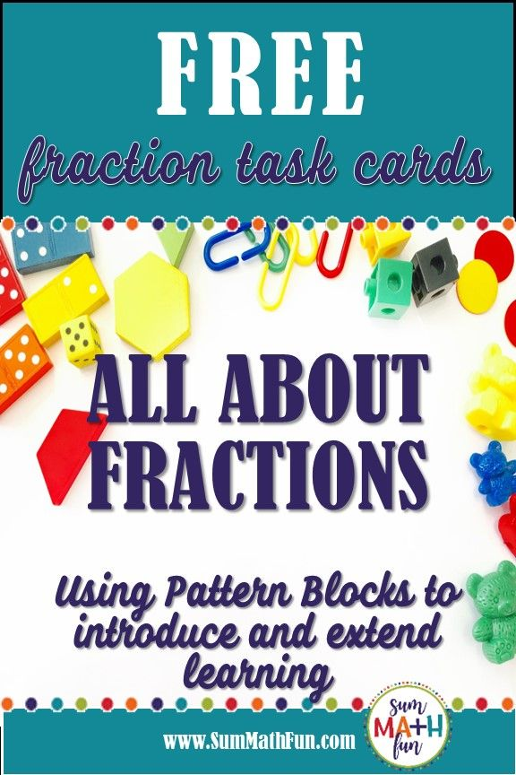 Equivalent Fraction Hands On Task Cards With Pattern Blocks