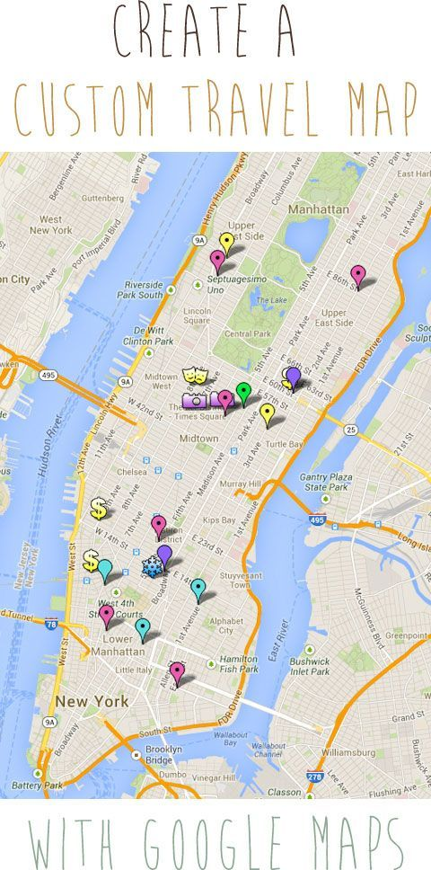 SUPER helpful tutorial to create a Custom Travel Map with Google Maps. A MUST have if you've got a vacation coming up!