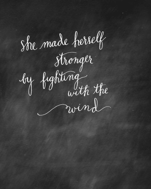 quote from The Secret Garden... first time playing with chalkboard.