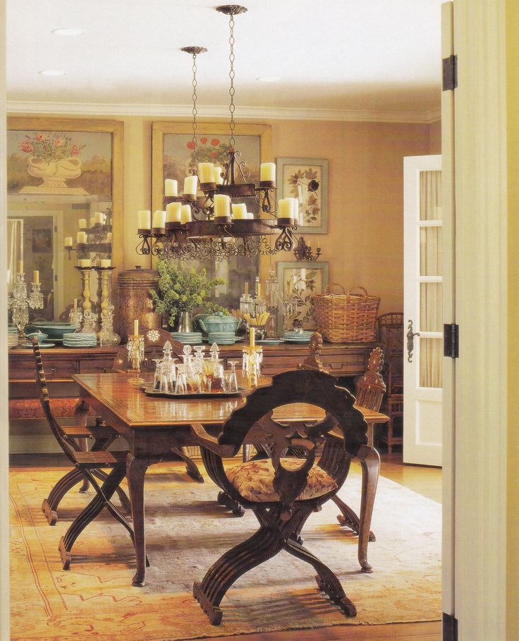 Bel air dining room of donna kaplan by lyn von kersting for Better homes and gardens dining room ideas