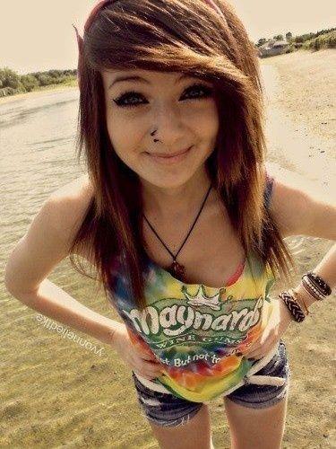 Cute Emo Girl  Beautiful People  Pinterest  Nose Rings -3600