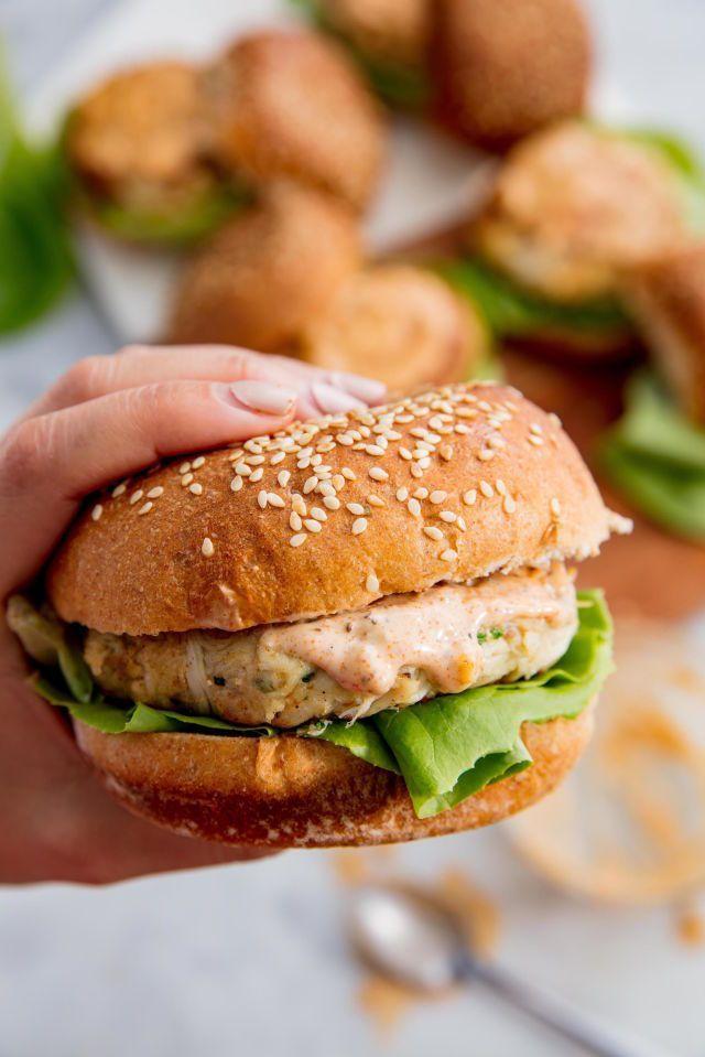 Crab Cake Burgers Recipe Crab Cake Burgers Burger Recipes Crab Cakes