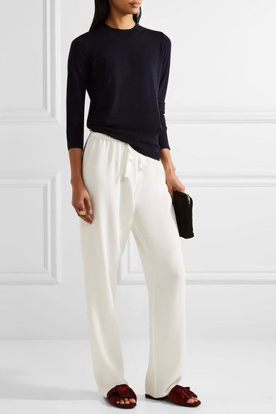 The Row - Paco Cady Straight-leg Pants - Ivory - x small