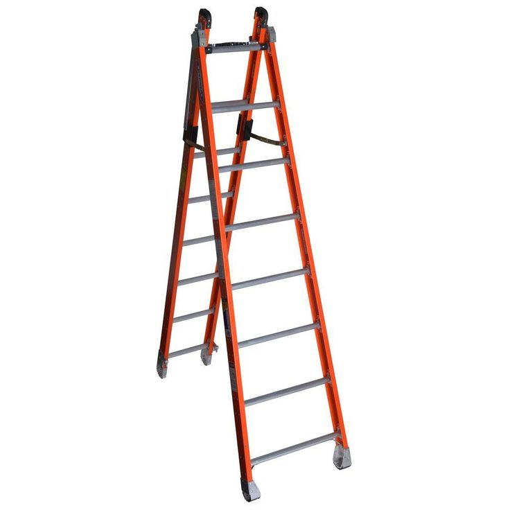 16 ft. Fiberglass Combination Ladder with 375 lb. Load Capacity Type IAA Duty Rating