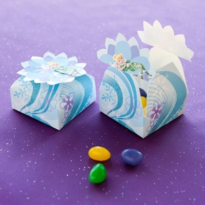 Turn these fairy gift boxes into party favors. Add some candy or a small trinket, and give one to each of your guests to take home.